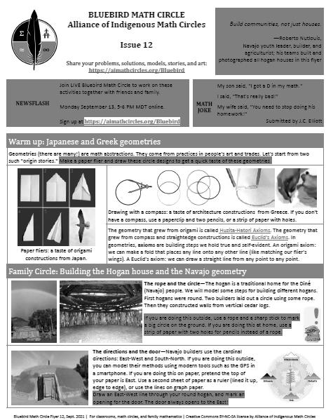 Bluebird Flyer Issue 12―Hogan House Axioms_grayscale